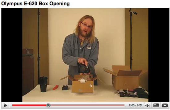 Olympus E-620 Box Opening