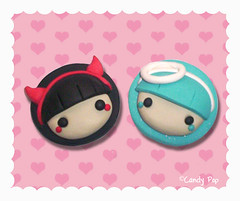Angel or devil? ( CandyPop ) Tags: food color cute art mobile pen diamonds skull necklace nice play hand candy heart sweet nintendo xbox jewelry ring made fimo nails cupcake clay swap ear keitai nes earrings draw collar tablet dulce snes hentai kawai boceto polymer thisy