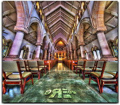 Spooky St. Andrews Cathedral (Ryan Eng) Tags: church hawaii oahu symmetry spooky walkway honolulu hdr fridaythe13th sigma1020mm saintandrewscathedral nikond90 vertorama ryaneng
