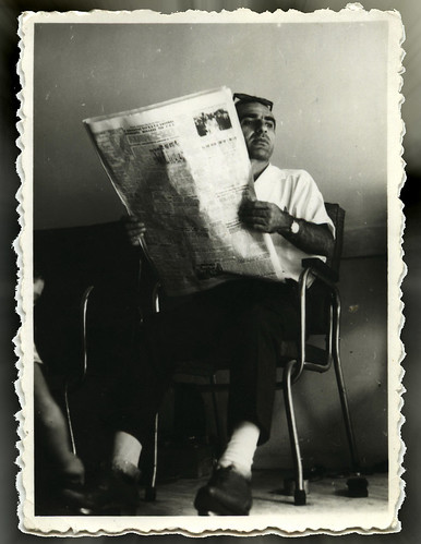 My Father reading a newspaper !!
