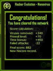 Hacker Evolution - Nanovirus- Score