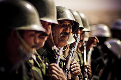 Frente Polisario soldiers (caravinagre) Tags: old sun man hot men sol sahara army algeria warm desert arms antique flag refugee armas conflict soldiers desierto viejo antiguo weapons independencia hombres calor argelia independece soldados saharawi saharaui westernsahara tindouf ejrcito refugiados olvidado frentepolisario conflicto rasd forgoten fusiles saharaoccidental