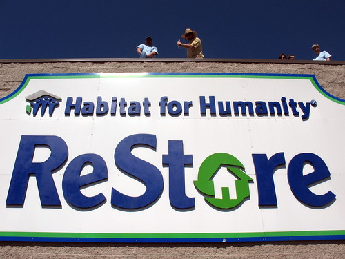 Mike Brawley on top o' the Restore