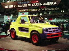 1991 Geo Tracker Hugger Concept (splattergraphics) Tags: 1991 geo tracker carshow conceptcar customcar hugger baltimoremd baltimoreconventioncenter motortrendinternationalautoshow