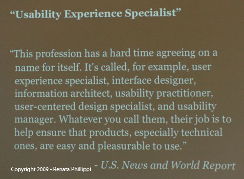 User Experience Specialist Definition