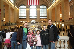 Cathie, Nate, Maddie, Em, Dave in Grand Central Station
