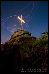 Ascent (Light Painted Cornwall) Tags: light lightpainting tristan night painting easter star sticks rocks long exposure cornwall glow darkness cross time good trails nighttime granite friday 2009 brea redruth barratt lightpaint carn lightpainted lightpaintedcornwall