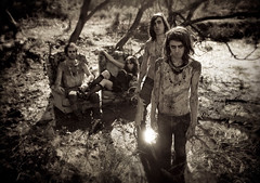 Crystal Fighters......... (Kirsty Mitchell) Tags: woods band mimi swamp gilbert graham basti ixtlan pressshot guyliner absolutelyfreezingcold crystalfighters boysmakeupbyme
