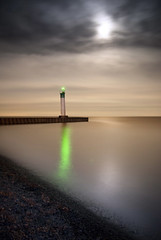 Port Bruce, Ontario (Explored) (Insight Imaging: John A Ryan Photography) Tags: longexposure moon toronto ontario water night lakeerie beacon portbruce pentaxk10d wwwinsightimagingca johnaryanphotography