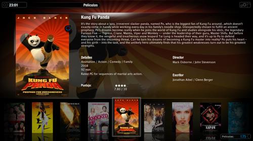 Captura de Plex en Mac OS X a punto de ver Kung Fu Panda