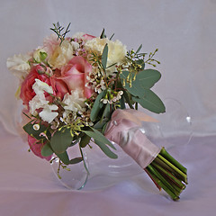 Peony Bridesmaid Bouquet/ wrap by nancycno