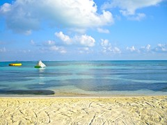 Beach in the morning at Dreams (Dave DiCello) Tags: ocean blue sea beach gulfofmexico water clouds mexico sand day gulf cloudy clear rake dreams cancun caribbean mexicovacation cancunvacation dreamvacation cancunmexico dreamscancun dreamsresortandspa dreamspalmbeach beachorseaoroceanorsandorclouds imagesunoverwater evad310 dreamsresortinmexico davedicello