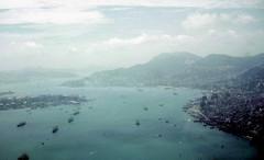 Hong Kong Harbor from Air