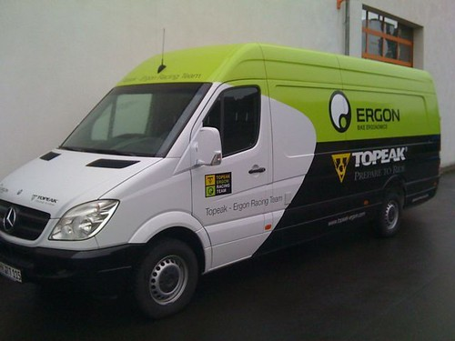 Topeak-Ergon team vehicle