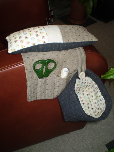 Armchair sewing caddy