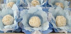 Forminha de tecido azul