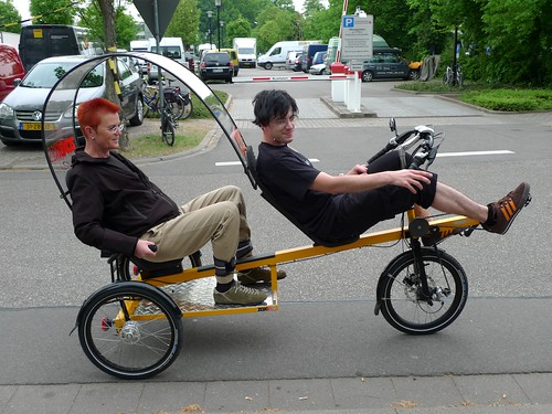 zox one person recumbent rickshaw