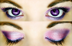 Oh hai (Lady Pandacat) Tags: pink portrait macro reflection eye glitter self eyes diptych shiny colorful purple bright shimmery urbandecay makeup vivid mexican yeartwo hispanic latina lust 2009 makeupforever metalhead catchlight fantabulous catchycolorspurple pandacat canong9 pandacatbaby tinaangel purple92 wwwcoastalscentscom coastalscents88shimmerpalette yeahiknowimpale heavymetalglitterliner makeupmacro coastalscentspalette ladypandacatvonnopants
