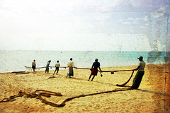 fishermen (LindsayStark) Tags: ocean travel people man men beach water war asia fishermen conflict srilanka humanitarian trincomalee trinco southasia displaced humanitarianaid emergencyrelief postconflict waraffected conflictaffected peopleofsrilanka