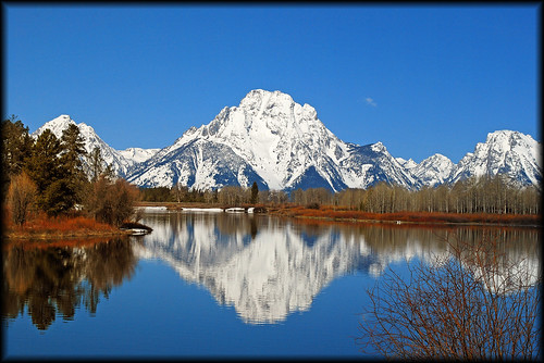 Springtime at Oxbow Bend, Grand Teton National Park - 6230bf