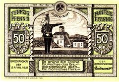 Grosskamsdorf, 50 pf, 1921 (Iliazd) Tags: germany notgeld papermoney germaninflationarycurrency emergencymoney 19171923 germanpapermoney