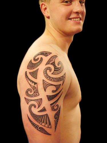 South pacific/polynesian tribal tattoo