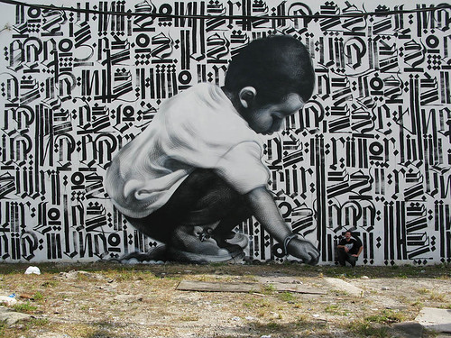 Retna and The Mac - Primary Flight - Art Basel 2008