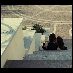 Tenderness (Osvaldo_Zoom) Tags: italy love youth spring bravo kiss couple lovers reggiocalabria tenderness