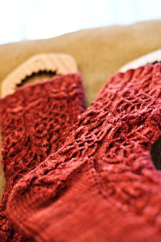 Twisted Flower Socks - FINISHED