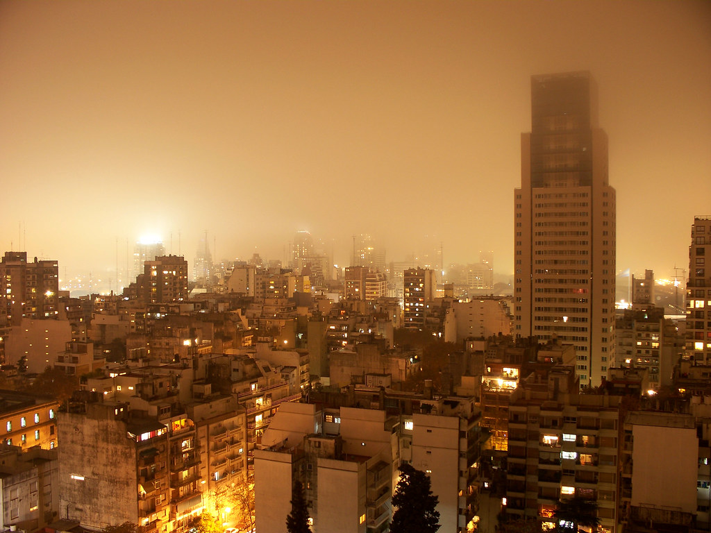 A Foggy Night in Buenos Aires | Una Noche de Niebla en Buenos Aires by katiemetz, on Flickr
