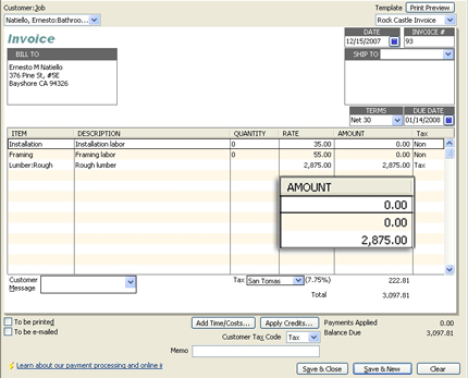 QuickBooks For Contractors Progress Invoicing AllBusinesscom - How to make an invoice on quickbooks