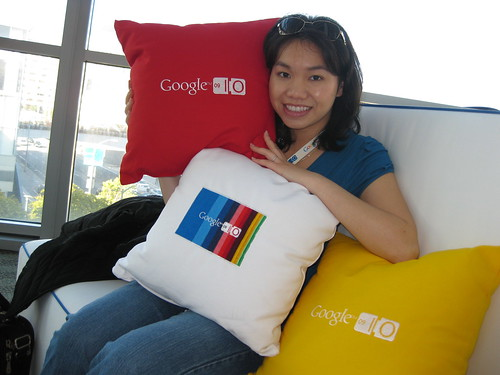 Google Pillows at Google I/O