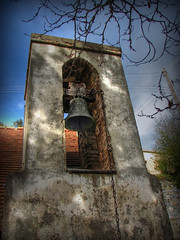 Church Bell (Mike G. K.) Tags: light tower church shadows village bell cyprus hdr photomatix tonemapped tonemapping singlejpghdr saranti mikegk:gettyimages=submitted εκκλησίααγίωνκωνσταντίνουκαιελένησ σαράντι saintsconstantinosandeleni