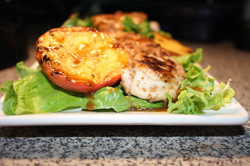 Pecan Chicken Salad with Grilled Peaches 2