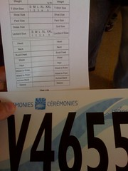 Olympic Audition Number