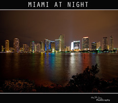 MIAMI AT NIGHT (Hector G Lincz Returning little by little) Tags: city light sky paisajes naturaleza color nature water night luces agua nikon colours florida miami colores explore greatshot frontpage nigth d90 nikond90