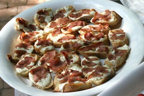 prosciutto and mozzarella