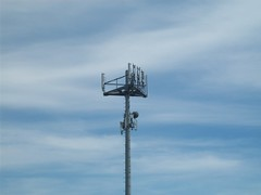 Cell Phone Tower In Kent, Washington Strip Mall (AdultSwimBumpChannel2009) Tags: seattle urban signs tower swim washington kent adult actn