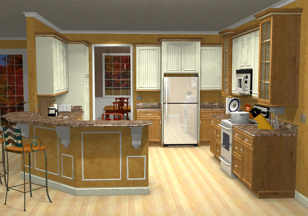 Dads Kitchen W/o Island 1 (CaptainC) Tags: Color Art Kitchen Architecture