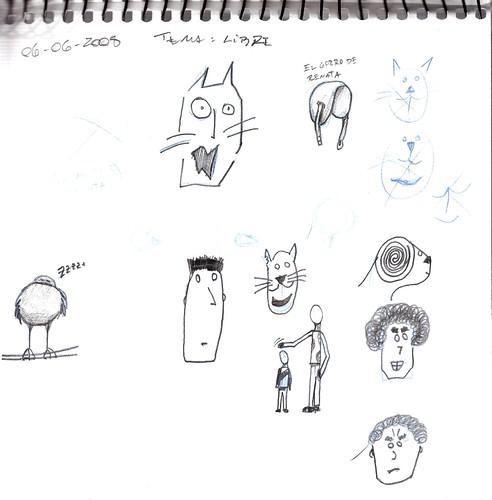 Mi memoria en dibujos 23 (Libre, Gato, Gorro Manuelita, Pajarito Dormido, etc)