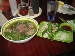 Pho Cyclo Cafe - Pho with Rare Beef and Beef Balls