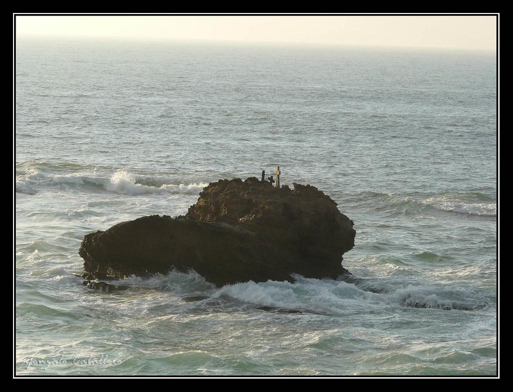Cruces en Le Rocher de la Vierge (Biarritz)