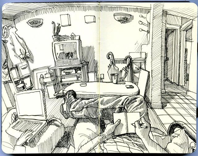 drawing the living room