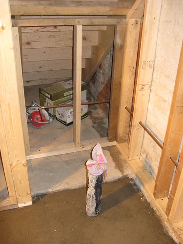 Toilet area (underneath of stairs too)