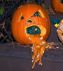 11108B1952 (hut234) Tags: park halloween brooklyn steps barf yuck stoop slope vomit pumkin