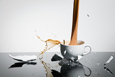 Teacup Splash (Darby Sawchuk) Tags: broken smash break tea teacup liquid highspeedphotography nikond300