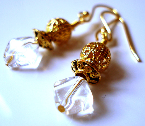 Golden Diamond Earrings