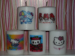 Kawaii Candles (denissetx) Tags: cute candles hellokitty hobby collection homemade swap kawaii customized personalized mymelody pandapple swapbot