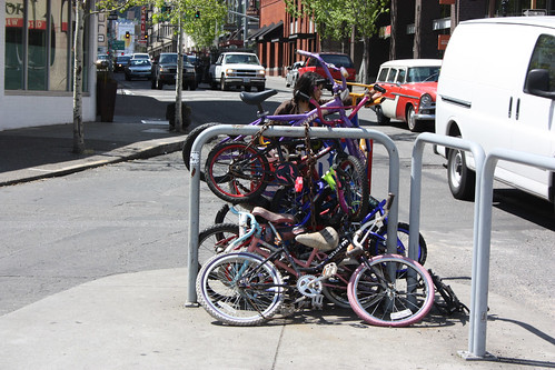 A unique way to park bikes in Portland