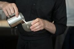 BB barista (heidill) Tags: sanfrancisco black sfmoma cappuccino barista bluebottlecoffee